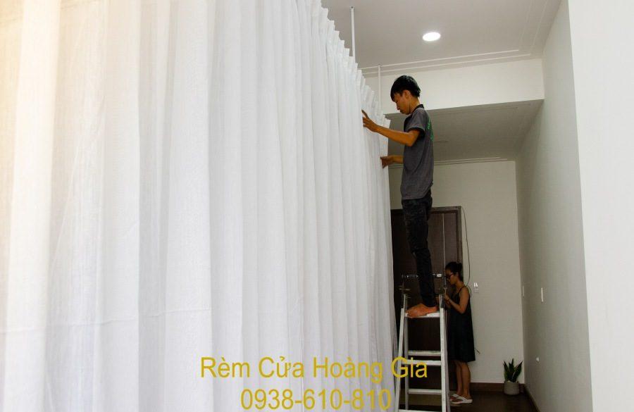 Rèm cửa vải voan spa ngăn phòng và may rèm vải voan đẹp