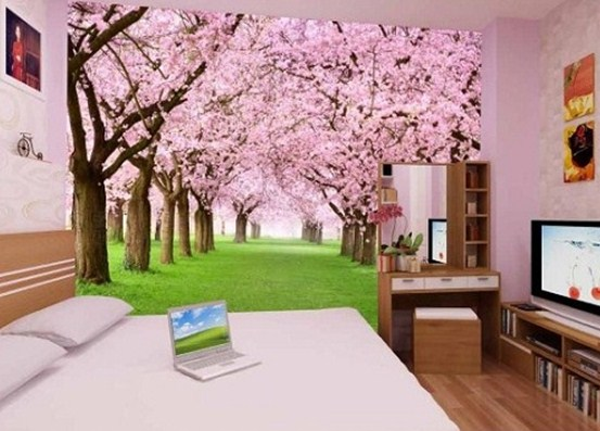 tranh cây hoa tím 3d PN