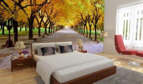tranh dán tường 3d phòng ngủ